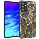 iMoshion Design hoesje Samsung Galaxy A72 - Bladeren - Zwart / Goud