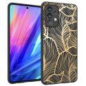 iMoshion Design hoesje Galaxy A52(s) (5G/4G) - Bladeren - Zwart / Goud